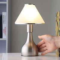 Bedside table lamp Ellen made from glass and metal