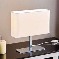 Angular  white fabric table lamp Nisa