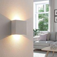 Anneke   angular LED wall light made of plaster