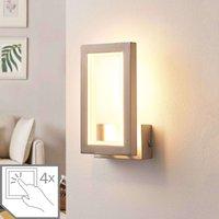 Heriba angular LED wall lamp  matt nickel