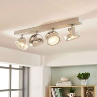 Lieven linear LED ceiling lamp  four bulb white