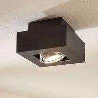 Vince LED ceiling light  14 x 14 cm in black