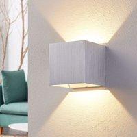 Aluminium LED wall lamp Esma  angular