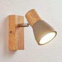 Filiz   LED spotlight made of wood and concrete