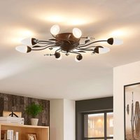 Dimmable LED ceiling lamp Renato  eight bulb