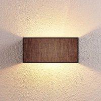 Adea fabric wall lamp  30 cm  angular  black