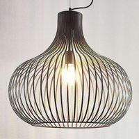 Cage pendant light Frances  brown  1 bulb   60 cm