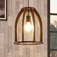 Brown wooden pendant light Tuva