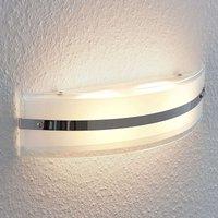 Zinka LED wall lamp made of glass  37 5 cm