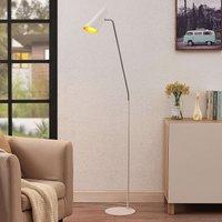 Lucande Wibke floor lamp in white