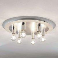 Justik metal ceiling light  six bulb  white