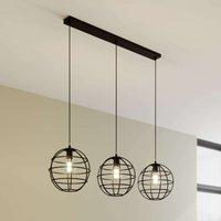 Bekira cage pendant light  three bulb  linear
