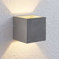Lindby Nellie LED concrete wall lamp  11 5 cm wide