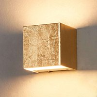 Gold coloured LED wall lamp Quentin  9 cm