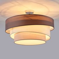 Three layer ceiling light Melia in brown and grey