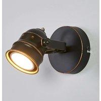 Black gold GU10 spotlight Leonor  LED