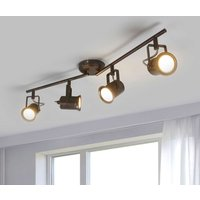 Four bulb LED ceiling light  rustic style
