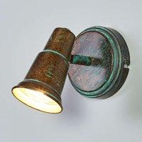 Antique looking spotlight Arielle  verdigris look