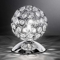 Glittery table lamp Holly with glass stones