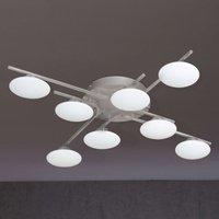 Everett LED ceiling light with 8 bulbs