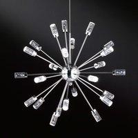 Cleo LED pendant light with 24 bulbs