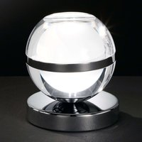 Chrome plated Fulton LED table lamp