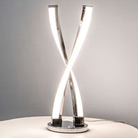 Idana   glossy chrome LED table lamp
