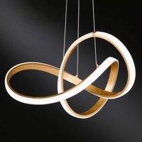 Curved Indigo LED hanging light