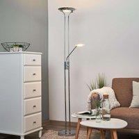 Aras   LED floor lamp with reading lamp  chrome