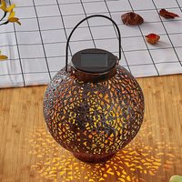 Dunjaris LED solar lantern  ornamentation  copper