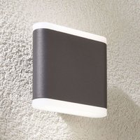 Vaiana dark grey LED outdoor wall lamp