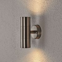 Hakan 2 Arm Stainless Steel Outdoor Wall Lamp