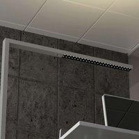 LED office floor lamp Jolinda  CCT with sensor