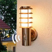 Selina   sensor outdoor wall light with a grid