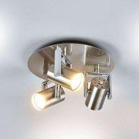 Round Luciana LED ceiling spotlight  3 bulb