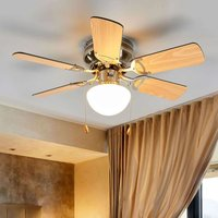 Flavio six blade ceiling fan with light
