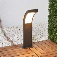 Juvia modern LED pillar light in graphite grey