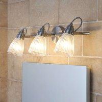 3 bulb bathroom ceiling light Kara with G9 LEDs