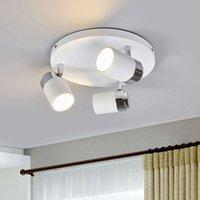 Kardo bathroom circular ceiling spot  white chrome