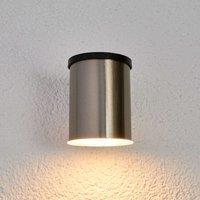 Tyson LED solar outdoor wall light  round  clear