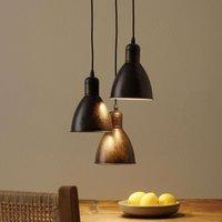 Pendant light Priddy 1  three bulb  antique copper