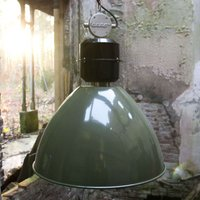 Olive green Frisk pendant light  industrial design