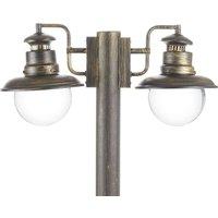 Artu   two bulb post light in black gold