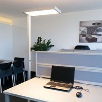 4 x 55 W 2G11   office floor lamp System