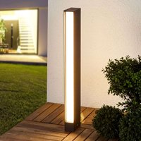Square LED path light Holly in graphite grey