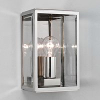 Homefield Square Outside Wall Light Nickel