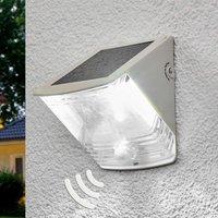 SOL 04 IP44 solar LED wall light  white