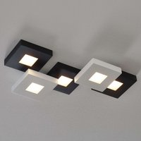 Black and white LED ceiling lamp Cubus  five bulb