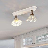 Charming PORTICO wall or ceiling light  2 bulb