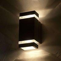Rectangular shaped FOCUS LED exterior wall light